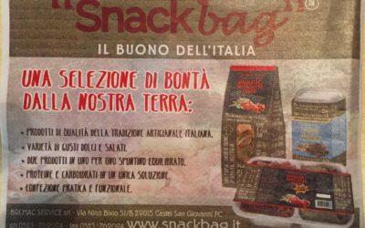 """Dal quotidiano di Piacenza """"LA LIBERTA""""presentazione SNACKBAG a """"PIACE.EAT"""""""